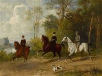 ausritt im park (promenade à cheval) by emil adam