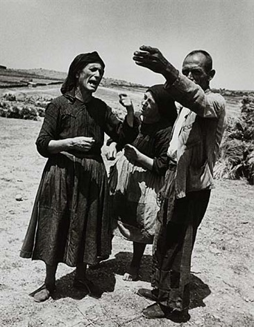 spanish village argument of peasants by w eugene smith