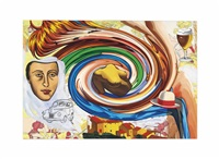the village (formerly untitled swirl with beer) by david salle