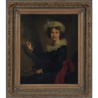 a portrait of louise elizabeth vigee lebrun by r. lucchesi