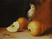 thrush & pear by galina reshotka