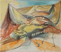 yellow hills, landscape by john melville