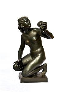brunnennymphe mit einer muschel in der hand by august wilhelm goebel