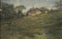 landscape with farmhouse by walter gay