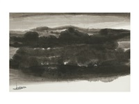 ink landscape by li geng