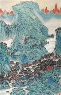 藏乡风情 (landscape) by liu fangjin