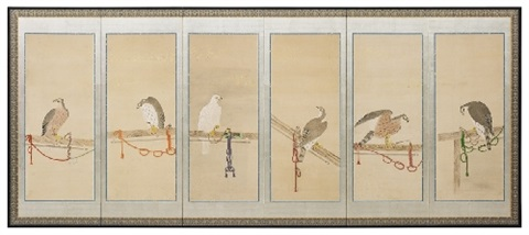 a six panel screen late 19th century