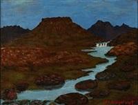 landscape from iceland by johannes kjarval