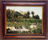 paisaje con castillo al fondo. segovia by pedro roig asuar