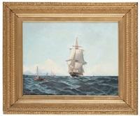 svenskt skepp på öppet hav by ludvig otto richarde