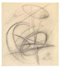 ohne titel (sketch for sculpture) by antoine pevsner