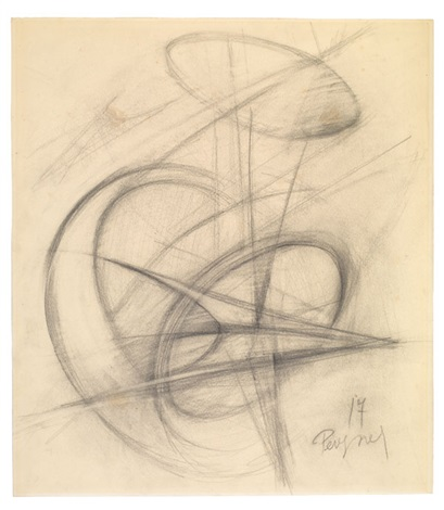 ohne titel sketch for sculpture by antoine pevsner