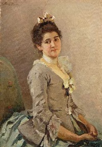 portrait einer jungen dame by joseph watter