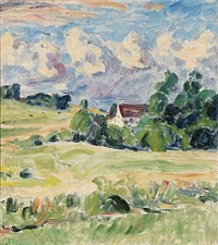 view over the fields by sigurd swane
