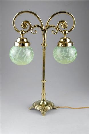 tischlampe by gräfliche harrachsche glasfabrik co