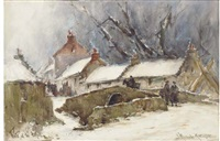 winter at the hillfoots, menstrie by james macmaster