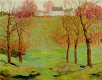 spring landscape by wilafred b. humphreys