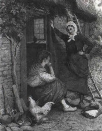 at the cottage door by george l. harrison