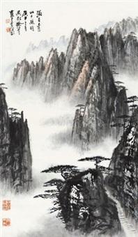 青山夕照图 立轴 纸本 by xu shaoqing