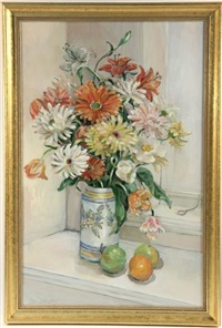 floral still life with vase by cita scott