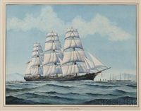 portrait of the american clipper ship