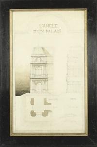 l'angle d'un palais by charles-louis delacroix