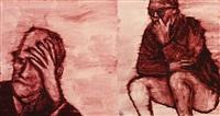 marginalia (hand on forehead/squatting): a diptych by ida applebroog