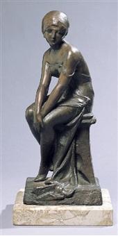 figura di donna seduta by bautrout