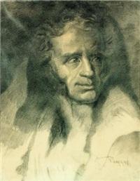 ritratto di ugo foscolo by romolo romani