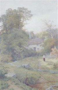 near porthoustock, cornwall by charles davidson