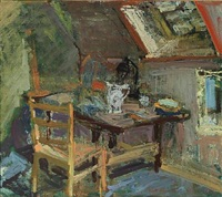 interior, attic by ernst rasmussen