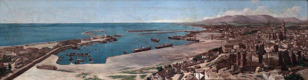 vista del puerto de málaga by charles clifford and juan martínez abades
