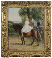 girl on a pony by edmund charles tarbell