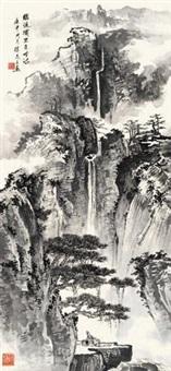 松崖观瀑 by xu zhiwen