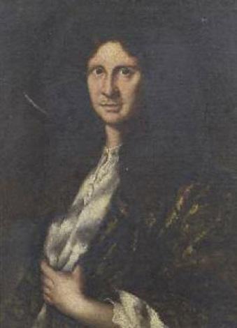 ritratto di uomo con giacca damascata by anton domenico gabbiani
