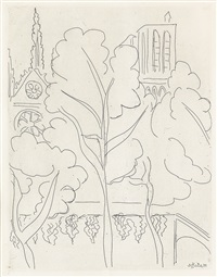 la cité--notre dame (from paris 1937) by henri matisse