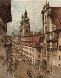 die landstraße in linz by josef eidenberger