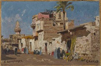 straßenszene in kairo by edmund berninger