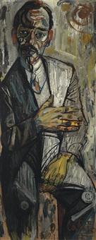 retrato de hombre sentado by francisco cortijo