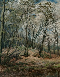 spring in the forest by karl rodeck
