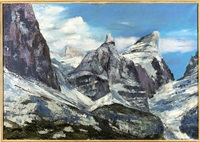 ghiacciaio (le tofane da pocol) by agostino bosia