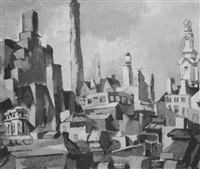 abstract roofs by francis edward danovich