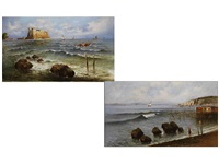 uferlandschaften (diptych) by raimondo scoppa