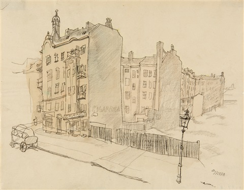 south end berlin in südende by george grosz