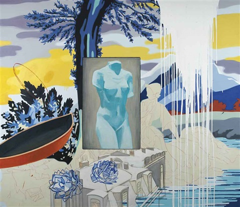 paris diptych by david salle