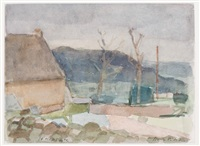 st. hypolyte; country road (2 works) by otto b. de kat