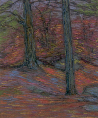 autumn landscape by charles salis kaelin