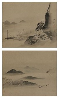 landscapes (pair) by kusumi morikagec