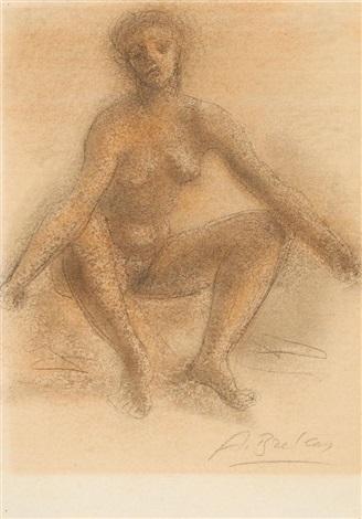 sitzender weiblicher akt by arno breker