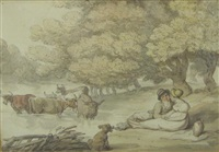 rustic courtship by thomas rowlandson